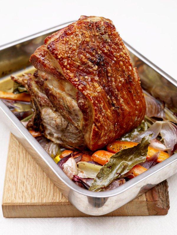 Christmas roast pork shoulder