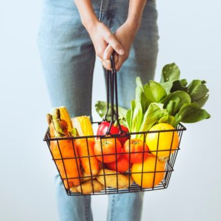 organic shopping basket