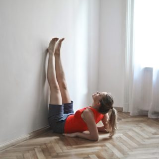 legs up the wall yoga
