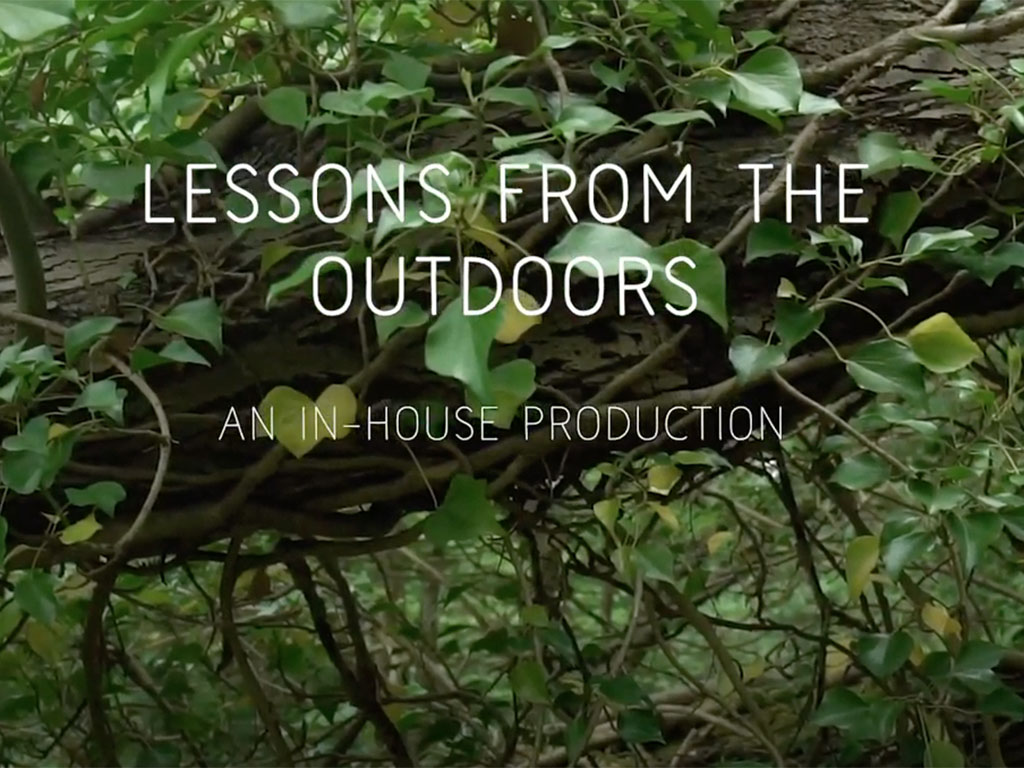 Lessons from the Outdoors